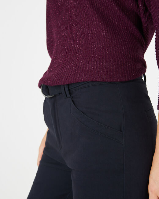 Kloe navy blue 7/8 length trousers (1) - 1-2-3