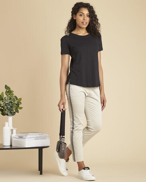 Tee-shirt noir épaules brodées Epique (2) - 1-2-3