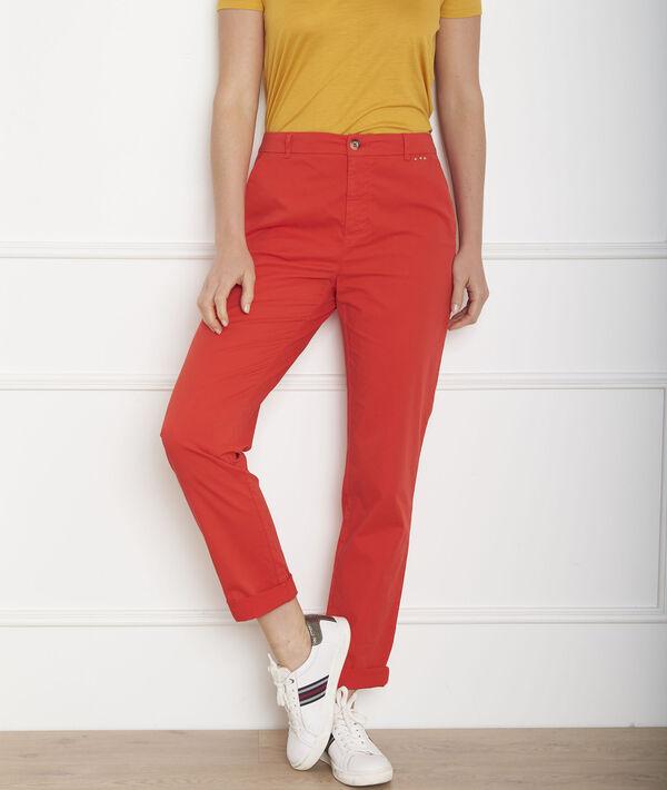 Pantalon rouge chino Calypso PhotoZ   1-2-3