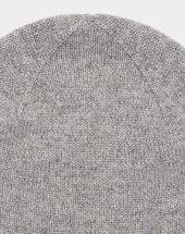 Bonnet gris chiné brillant en cachemire tilleul bis light chine.