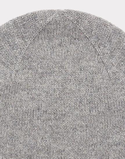 Graumelierte glänzende Kaschmir-Mütze Tilleul bis (2) - 1-2-3
