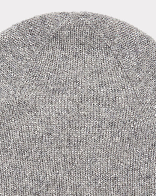 Bonnet gris chiné brillant en cachemire Tilleul bis (2) - 1-2-3