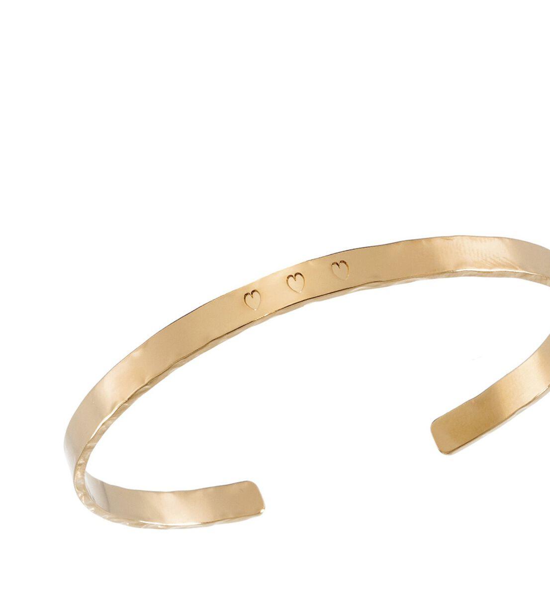 Bracelet martelé or cœur Bijoux Léone PhotoZ   1-2-3