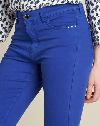 Jean slim bleu roi taille normale vendome bleuet.