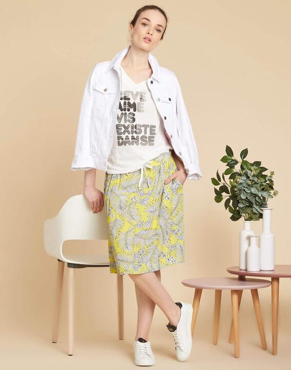 Lutin yellow printed skirt (2) - 1-2-3