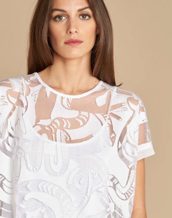 Tee-shirt écru dévoré Eka (1) - 1-2-3