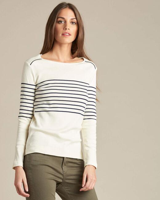 Gestreiftes Langarm-T-Shirt Escorteur (2) - 1-2-3