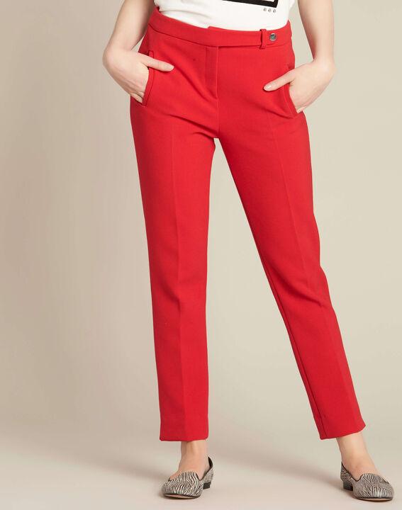 Rote Slim-Fit Business-Hose Lara (3) - 1-2-3