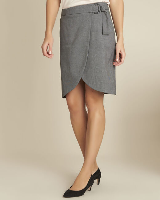Lorine grey wallet skirt with buckle (2) - 1-2-3