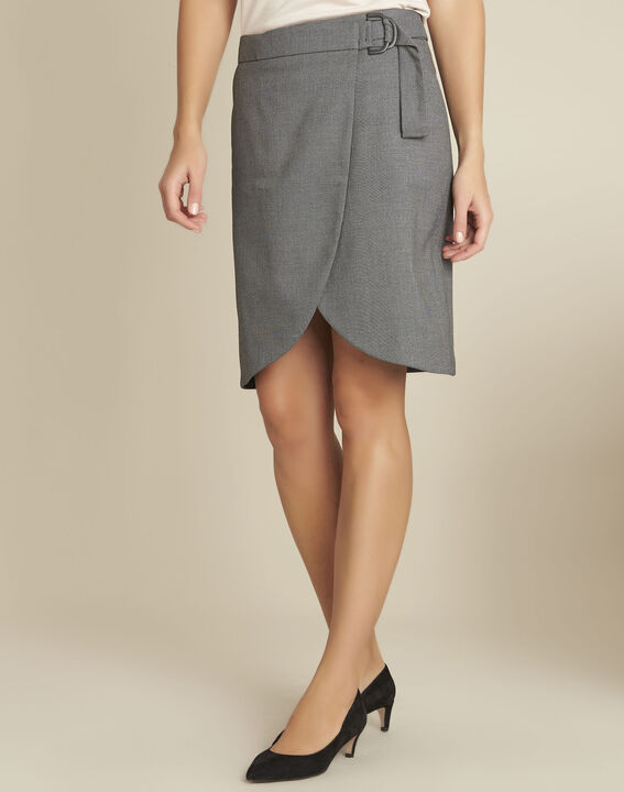 Lorine grey wallet skirt with buckle (1) - 1-2-3
