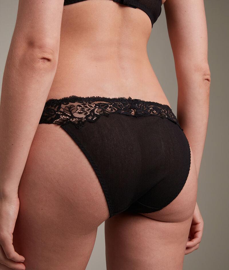 Culotte en tulle coton et dentelle française noire Jeanne PhotoZ   1-2-3