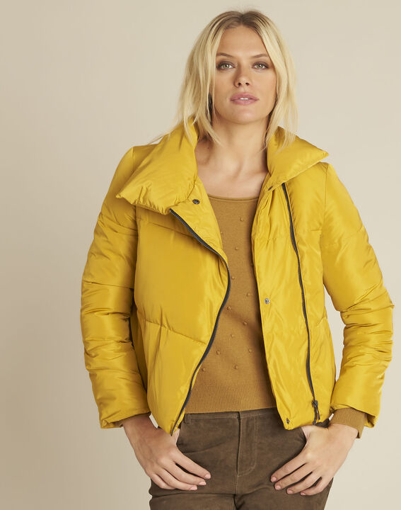 Poline short yellow down jacket with side zip PhotoZ | 1-2-3