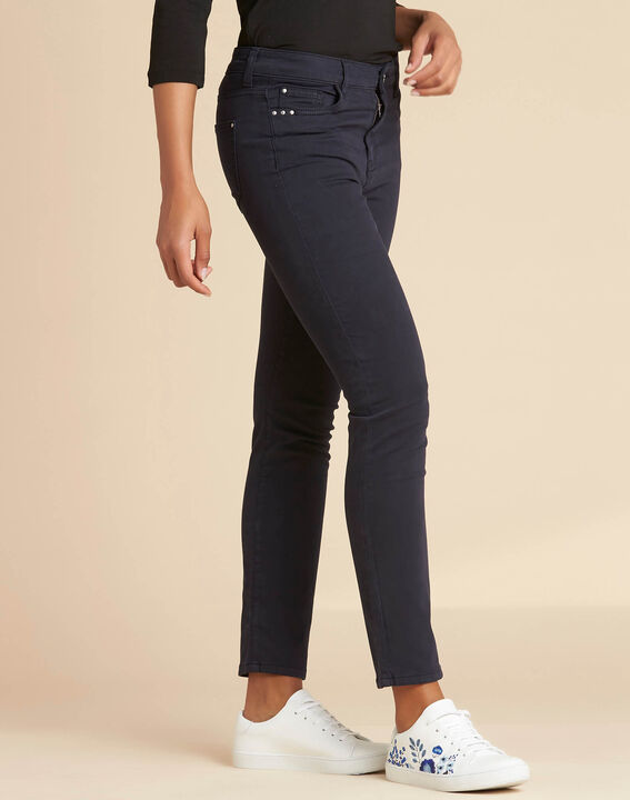 Marineblaue Slim-Fit-Jeans normale Leibhöhe Vendome (3) - 1-2-3