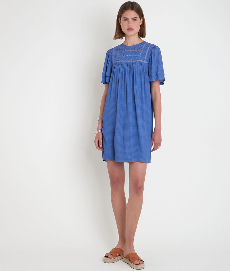 Robe ample avec dentelle bleue Sarah PhotoZ | 1-2-3