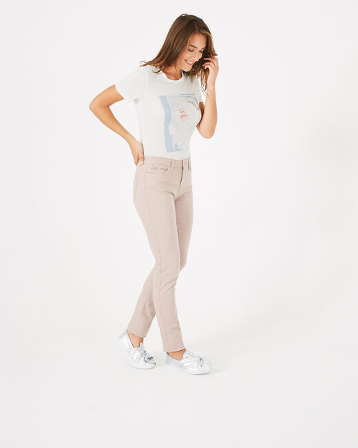 Pantalon slim rose pâle William (1) - 1-2-3