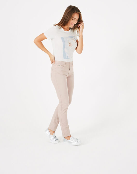 Pantalon slim rose pâle William (2) - 1-2-3