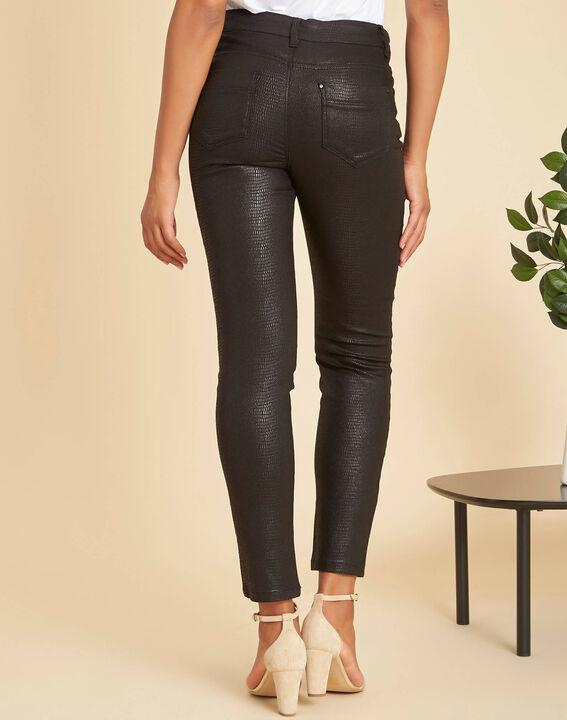 Schwarze beschichtete 7/8-Jeans Oliver (4) - 1-2-3