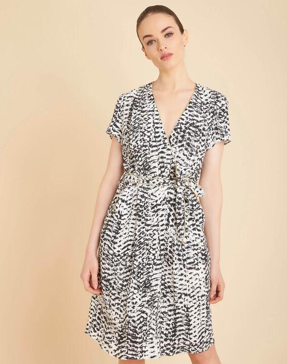 Robe noir et blanc imprimée Panthere (3) - 1-2-3
