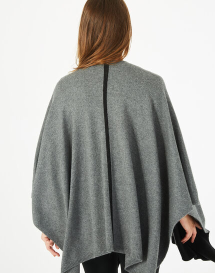 Cape noire et gris chiné en laine Polly (5) - 1-2-3