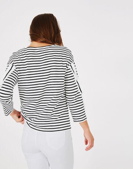 Tee-shirt rayé en coton Babord (5) - 1-2-3