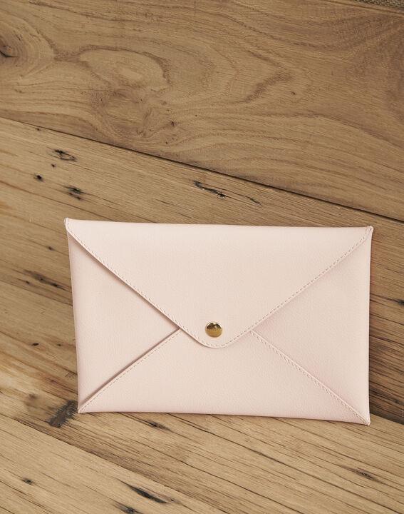 Enveloppe rose pâle cuir recyclé Shibuya PhotoZ | 1-2-3