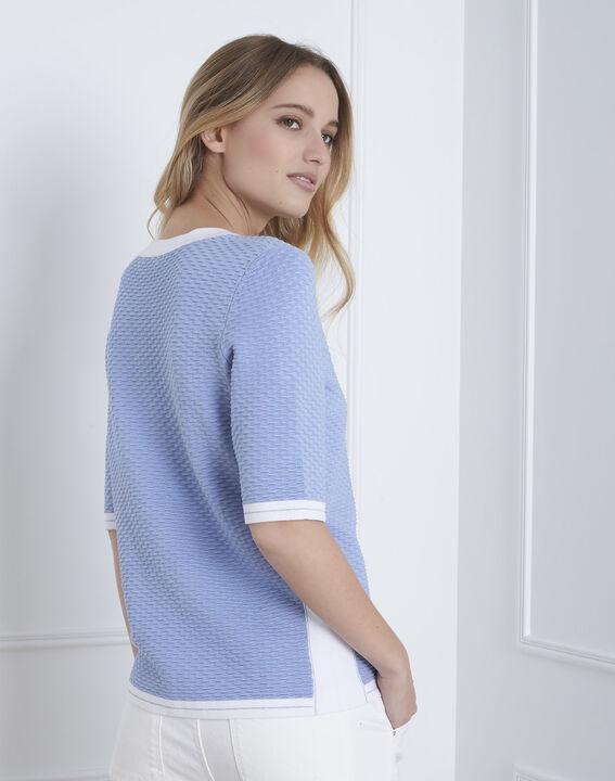 Himmelblauer Pullover mit 3/4-Ärmeln (4) - Maison 123