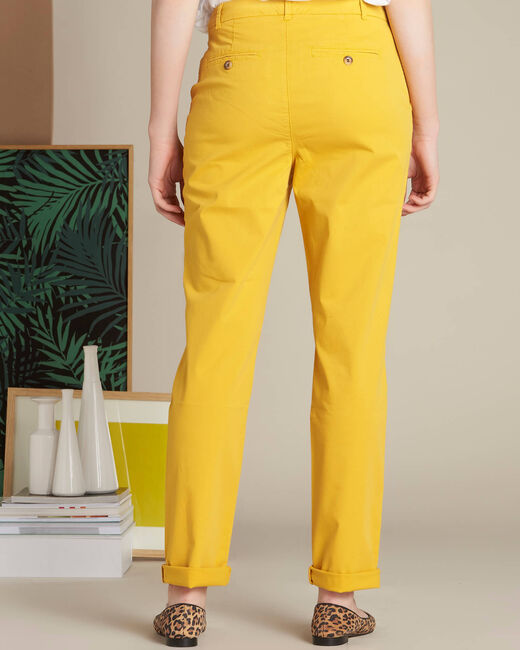 Victoria yellow chinos with turn-ups (1) - 1-2-3