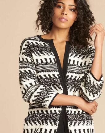 Navajo black and white knit jacket black/white.