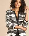 Navajo black and white knit jacket (1) - 1-2-3