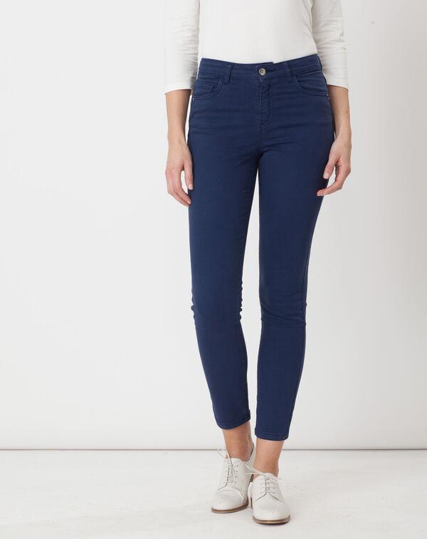 Pantalon bleu 7/8ème oliver à