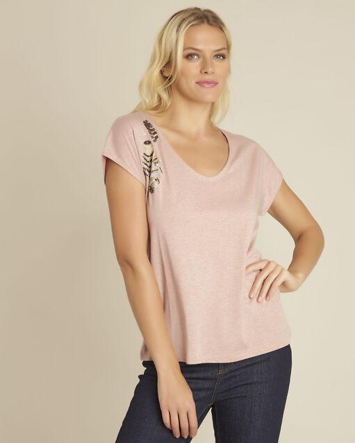 Tee-shirt rose brodé Gapon (1) - 1-2-3