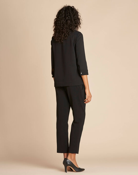 Gerry black blouse with jewel detail (4) - 1-2-3