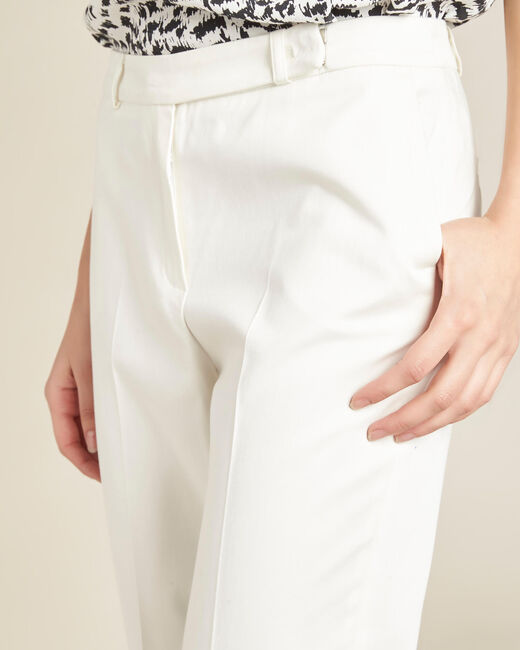 Rubis ⅞-length ecru trousers (2) - 1-2-3