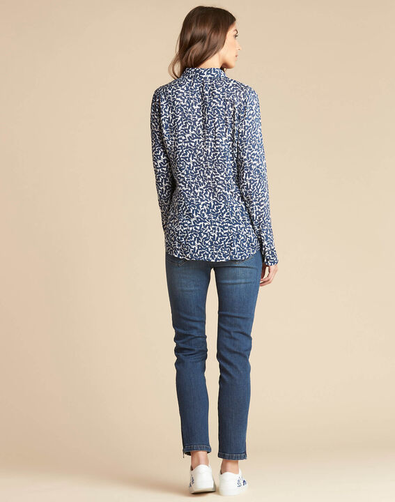 Ravel blue leaf print shirt (4) - 1-2-3