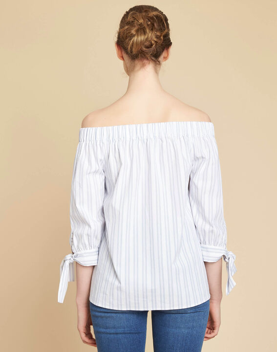 Emilie off-the-shoulder striped blouse (4) - 1-2-3