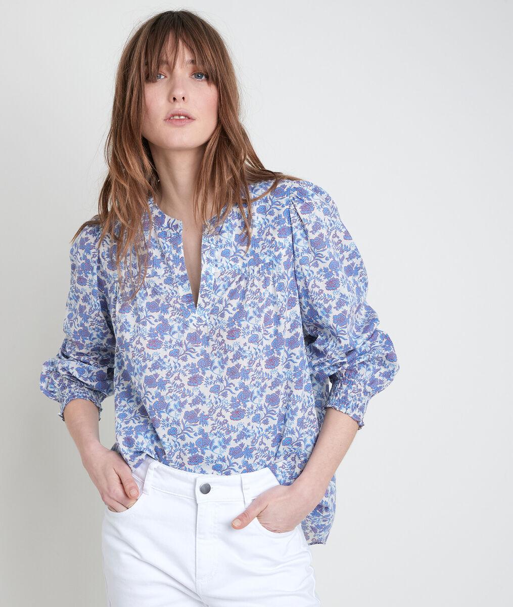 Bluse mit Blumenprint Vergissmeinnicht Tenessis PhotoZ | 1-2-3