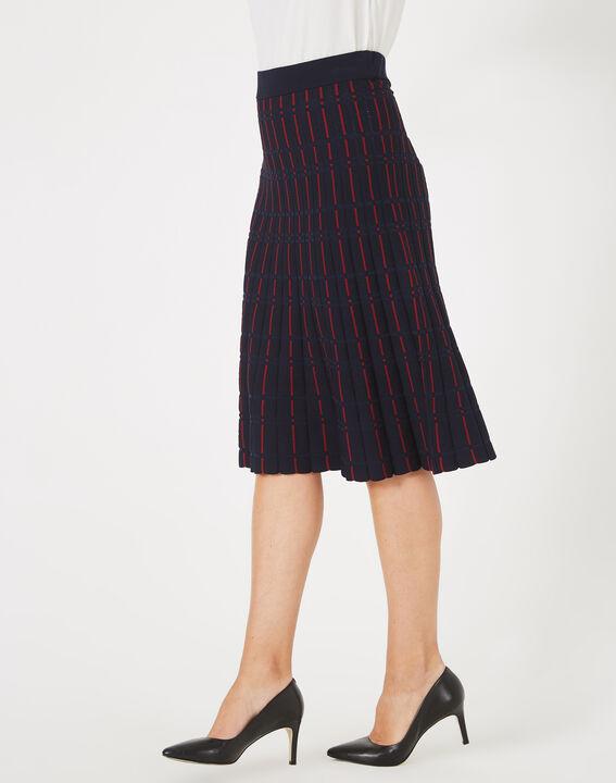 Fado navy blue knit dance skirt (2) - 1-2-3