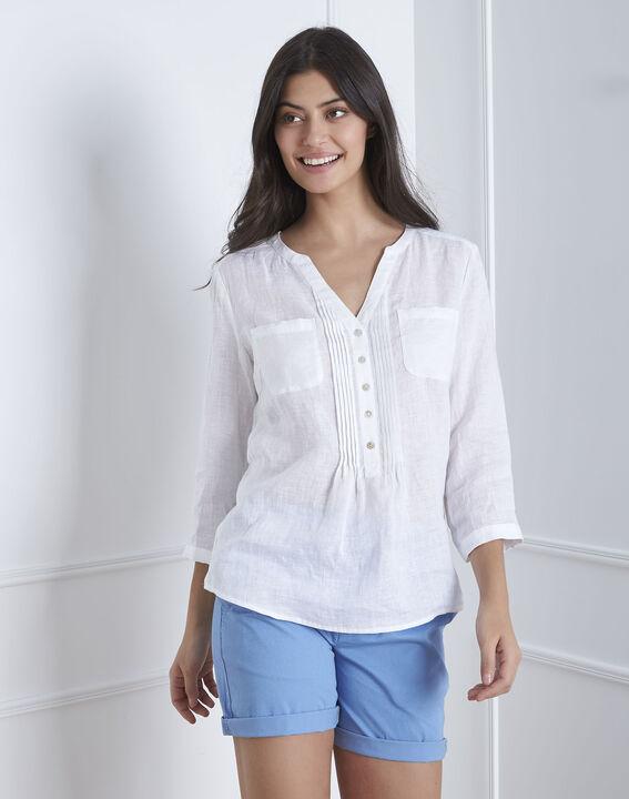 Chemise blanche en lin Roma (2) - Maison 123