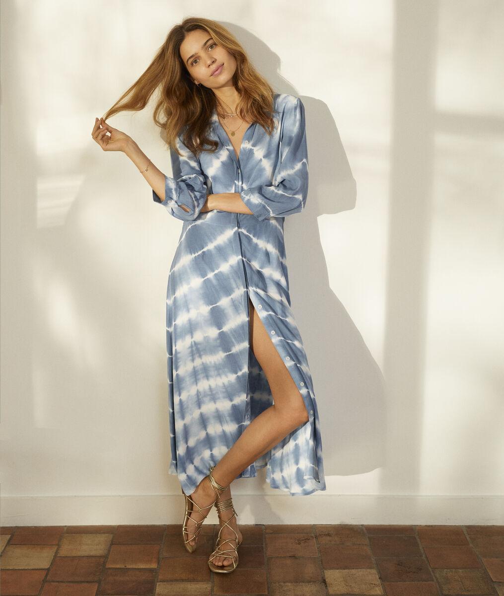 Robe chemise tie & dye bleu ciel Laurice Bis  PhotoZ | 1-2-3