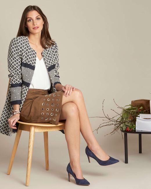 Lilou khaki suede skirt (1) - 1-2-3