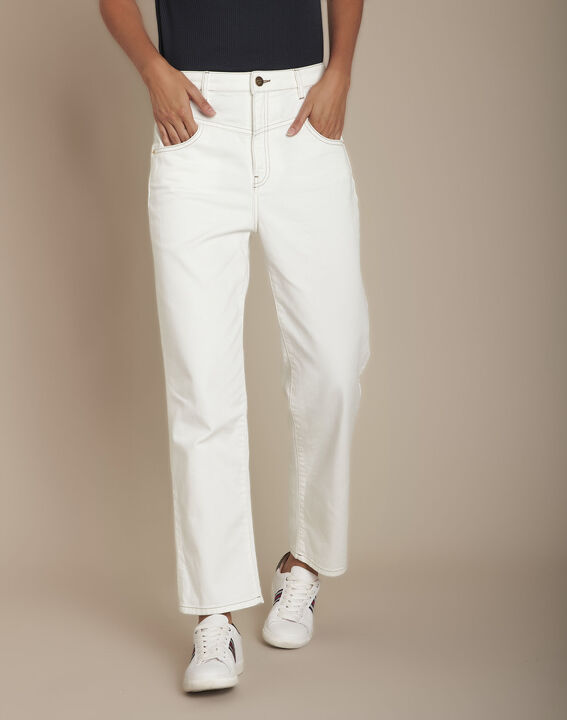 Le Confort fit : jean vintage straight blanc Steven PhotoZ   1-2-3
