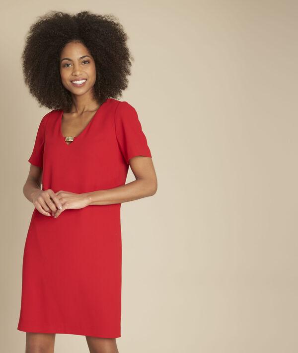 Robe rouge détail strass Noel PhotoZ | 1-2-3