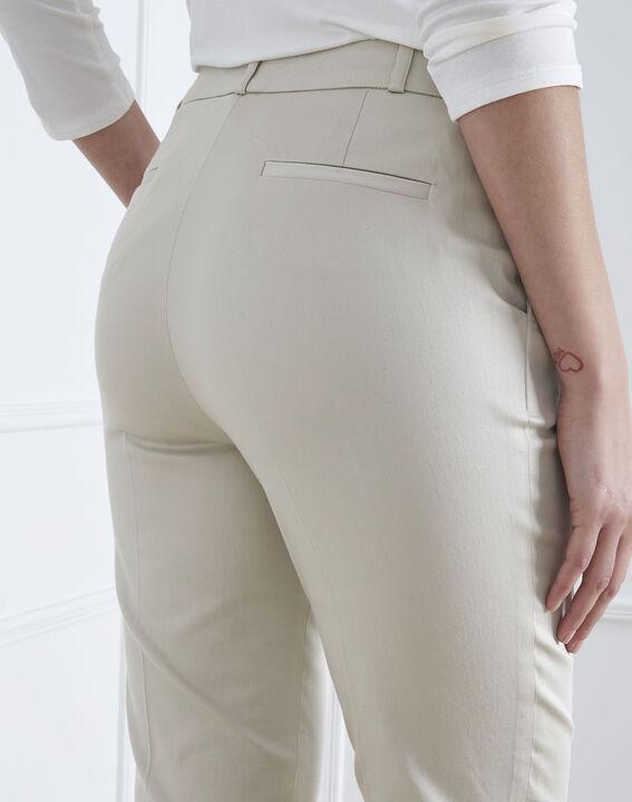 Pantalon beige cigarette Rubis (4) - Maison 123