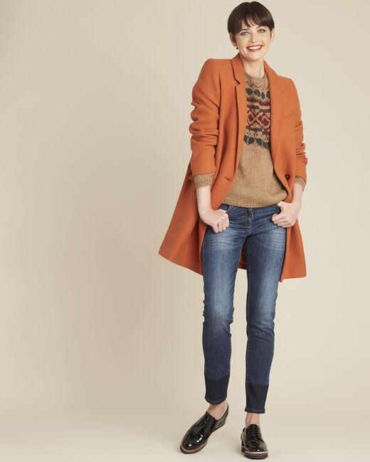 Molly navy slim-cut bi-colour jeans (1) - 1-2-3
