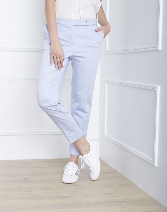 Pantalon bleu ciel cigarette Rubis (1) - Maison 123