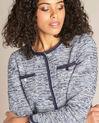 Extreme navy blue collarless jacket (1) - 1-2-3