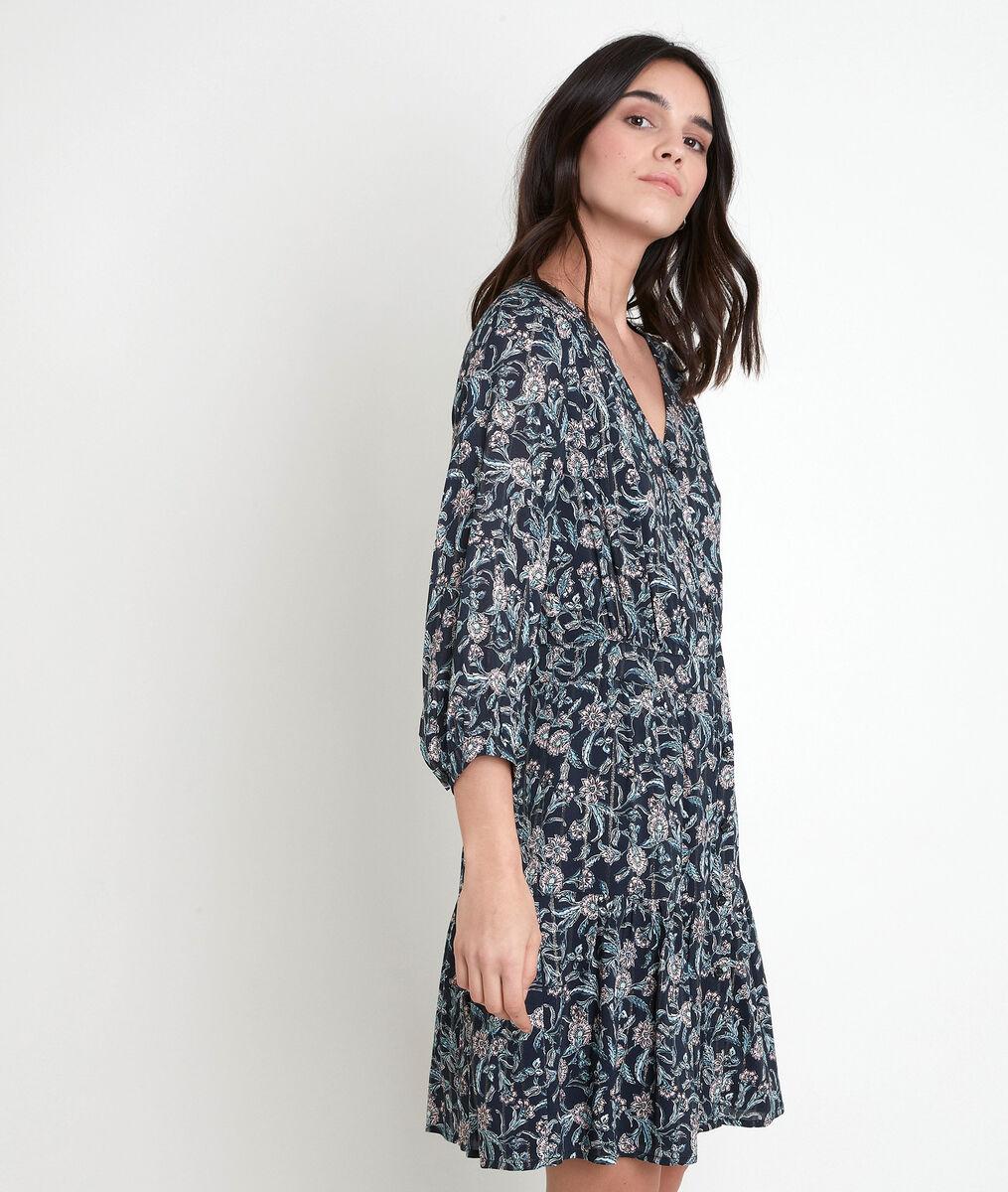 Robe bleue imprimée Louisette PhotoZ | 1-2-3