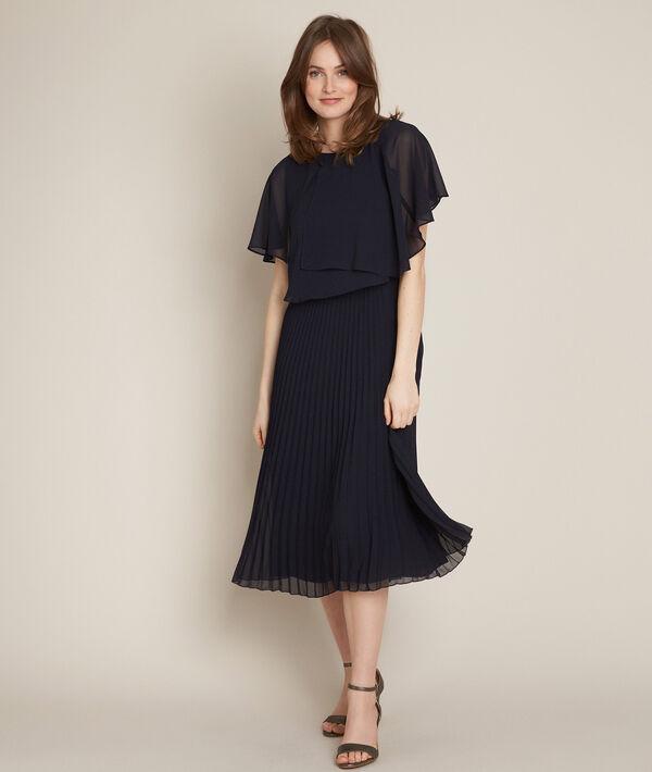 Robe plissée noire Ornella PhotoZ | 1-2-3