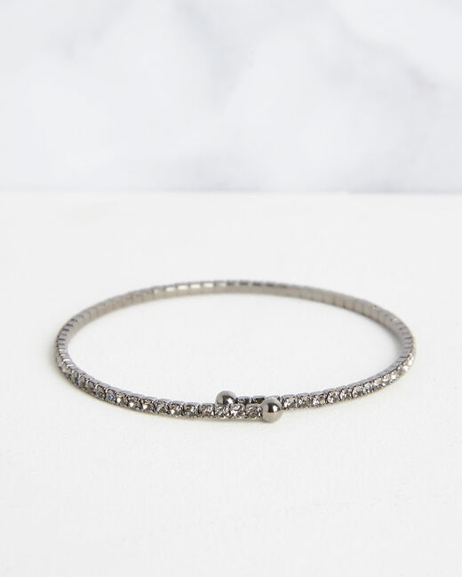 Bracelet brillant noir Olympe (2) - 1-2-3