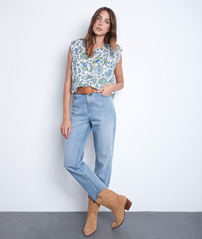 Mouwloze blouse met print en schoudervullingen Tracy PhotoZ | 1-2-3